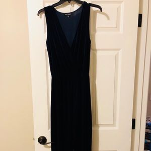 Pants - Navy blue velvet jumpsuit size s